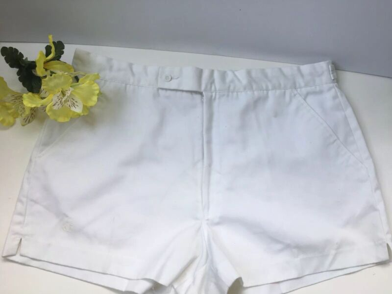 Vintage Jockey Men's White Tennis Shorts Size 36
