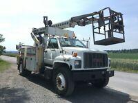 2001 GMC C7500 Telsta T40 Cable Placing Bucket Boom Truck