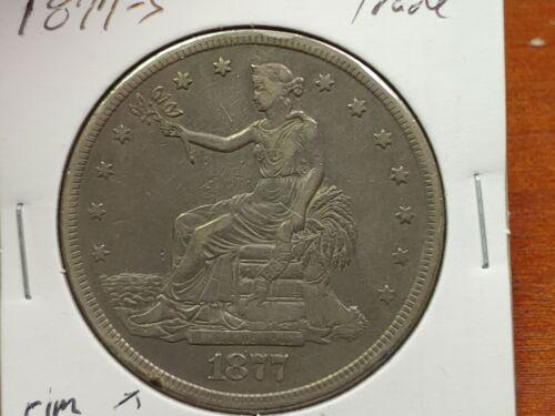1877-S Silver Trade Dollar Nice Condition!