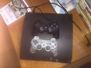 PS3 W/ 2 controllers (missing HDMI and charger)
