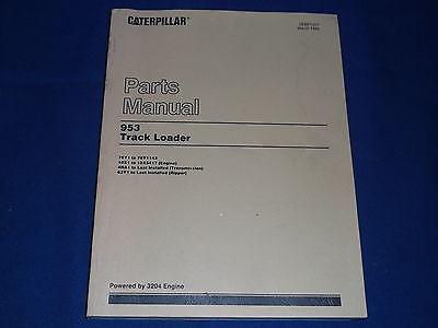 Cat Caterpillar 953 Track Loader Parts Book Manual Sn 76y1-1143