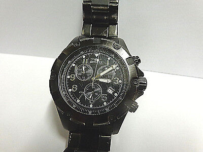 Invicta watch chronograph #13523 stainless steel/blk swiss