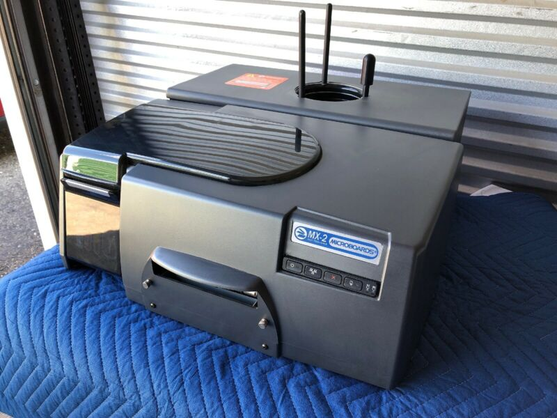 Microboard MX-2 disc publisher CD/DVD printer/replicator w/ various accessories