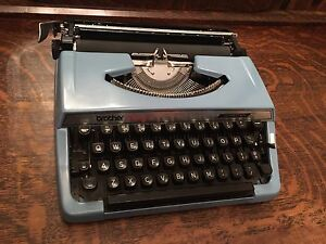 Vintage Baby Blue Brother Charger 11 Typewriter