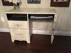 Refinished desk chalk painted