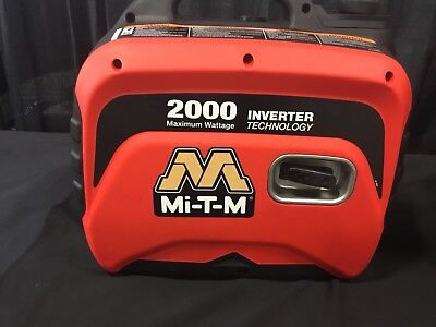 New Mi-t-m Gen-2000-imm0 Portable Generator Inverter 2000w 12v Sales Demo