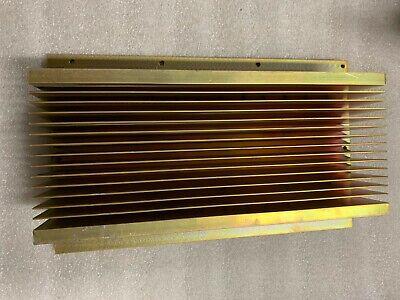 Large Aluminum Heat Sink 12 X 7 14 X 2 12 Gold Anodized Heatsink