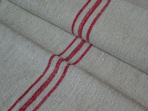 Antique European Feed Sack GRAIN SACK Red Stripes # 9470