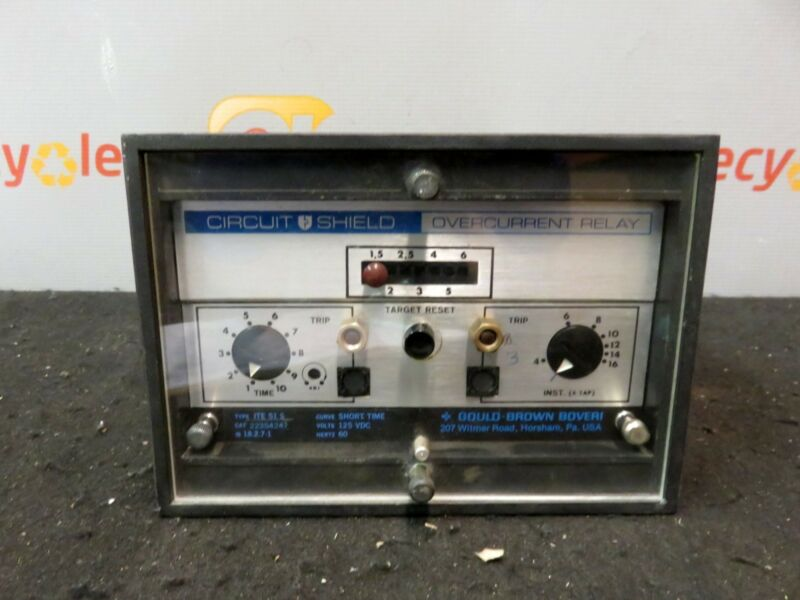 ABB Gould Brown Boveri Circuit Shield Overcurrent Relay ITE 51 S ITE 51S