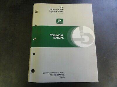 John Deere 100 Intermediate Square Baler Technical Manual  Tm1690