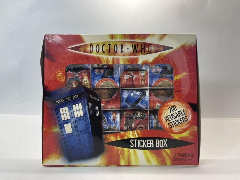 Rare Doctor Who Sticker Box 200 Reusable Stickers Featuring Characters & More