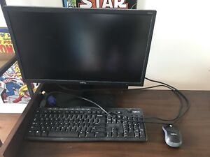 22' monitor and keyboard