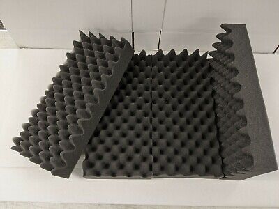 Lot Of 4 Soft Eggcrate Foam Acoustic Shipping Packing Block 8.25 X 17.50 X 3