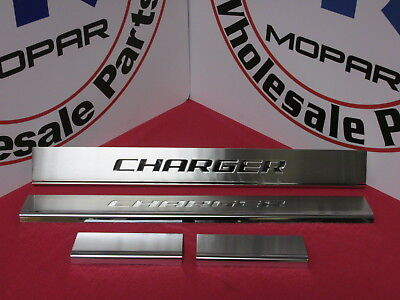 DODGE CHARGER Stainless Steel Door Sill Guards NEW OEM MOPAR