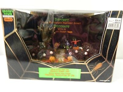 Front Yard Halloween Decorations (Lemax Halloween Ghoul's Night Out Lighted Spooky Front Yard in Original Box)