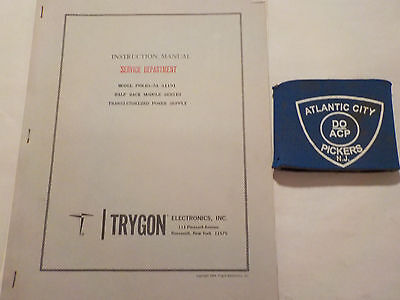 Trygon Phr40-5a S1191 Power Supply Instruction Manual