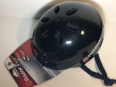 Razor Youth Bike Skateboard Multisport Helmet Black Black Strap