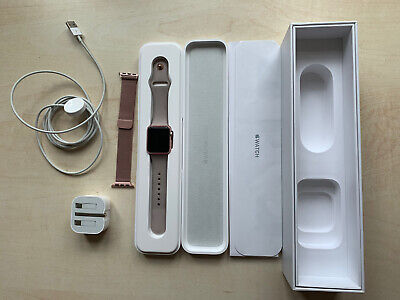 Apple Watch Series 1 38mm Rose Gold Excellent Condition With Extra Strap