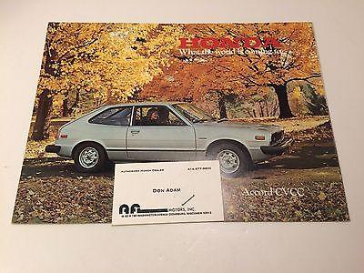 Honda Accord Brochure - Vintage - 1977 - Nice
