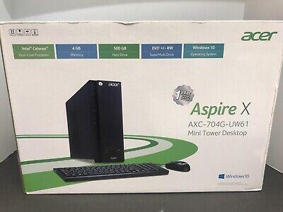 Acer AXC-704G-UW61 Mini Tower Desktop Windows 10 Brand New Sealed