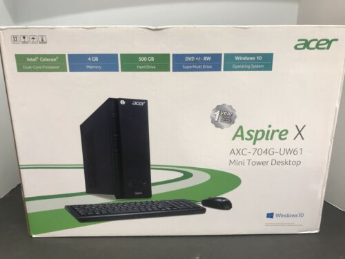 Acer Apsire PC Intel N3050 1.6GHz, 4GB RAM, 500GB HDD, DVDRW