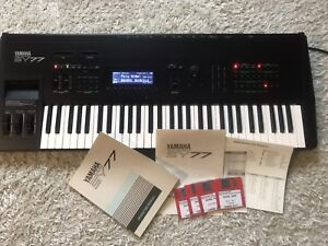 Yamaha SY77 Synth. MINT with original box and manuals.