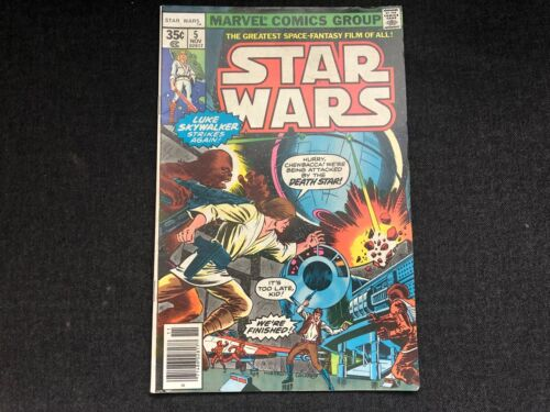 Vintage STAR WARS #5 Comic Book Nov 1977 Marvel Comics Group