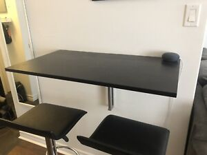 Black Foldable Ikea Table