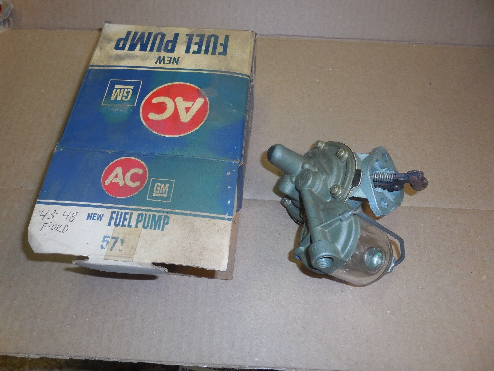 NOS AC Fuel Pump #571 for 1934-46 FORD AND 35-42 LINCOLN