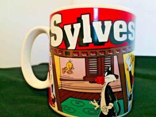Looney Toons Sylvester Tweety Bird Coffee Mug Cup, 1995