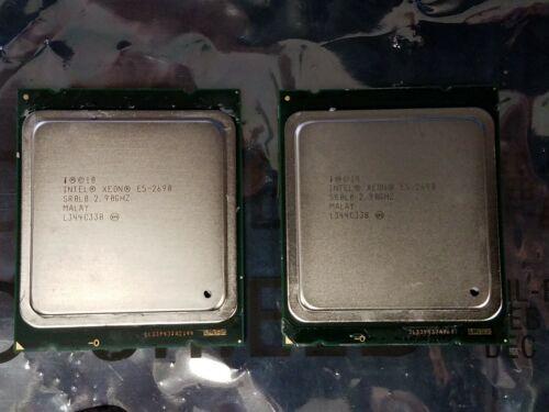 Lot of 2 Intel Xeon E5-2690 V1 2.90GHz 8 Core Processors | 18352JL