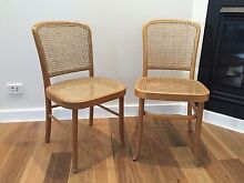 Cane chairs x 2 - dining Seaforth Manly Area Preview