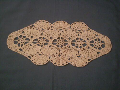 Vintage Handmade Crocheted  Tablecloth table runner