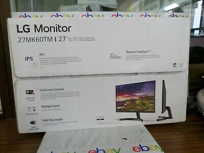 "LG 27MK60TM-B 27"" Flat IPS LED 1920 x 1080 2x HDMI Gaming Monitor"