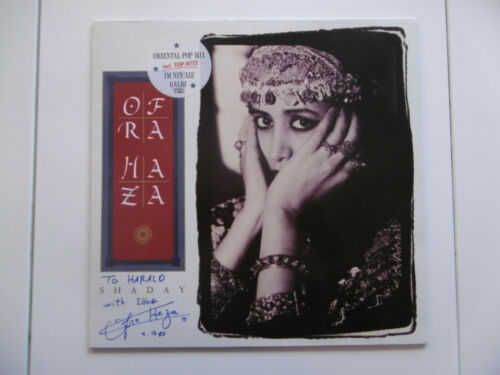 "Ofra Haza Autogramm signed LP-Cover ""Shaday"" Vinyl ACOA"
