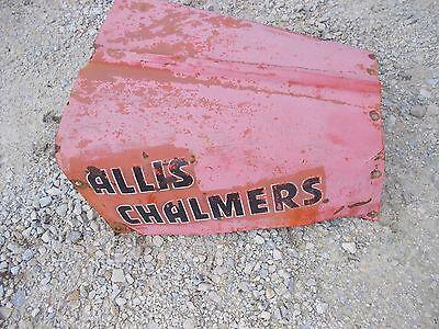Allis Chalmers G Tractor Original Ac Rear Engine Cover Panel Hood Alternator Cut