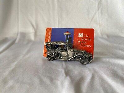 Antique Car Business Card Holder For Desks - Metal