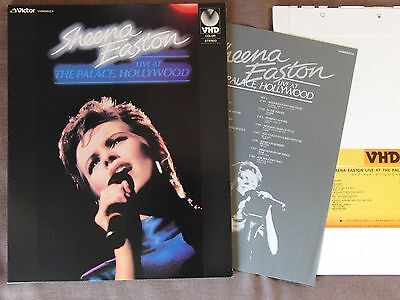 Ex+! SHEENA EASTON Live at The Palace JAPAN-ONLY VHD Slip Case+Insert VHM58024