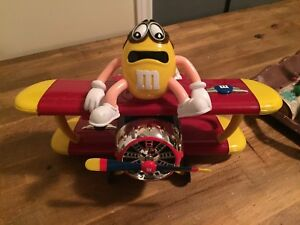 M&M's MMs Toy Airplane Chocolate Candy Dispenser Plastic