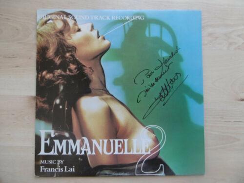 """Francis Lai Autogramm signed LP-Cover """"Emmanuelle- Soundtrack"""" Vinyl"""