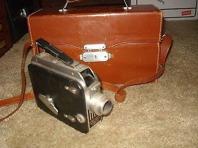 Vintage Cine-Kodak 8mm Film Movie Camera with Case & Color Filter