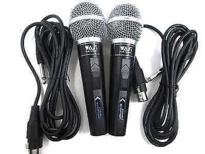 2 Pack Lot Dynamic Microphone Uni-Directional Premium Cardiod Karaoke Vocal New!