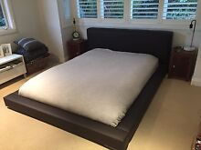 Queen leather bed frame Avalon Pittwater Area Preview