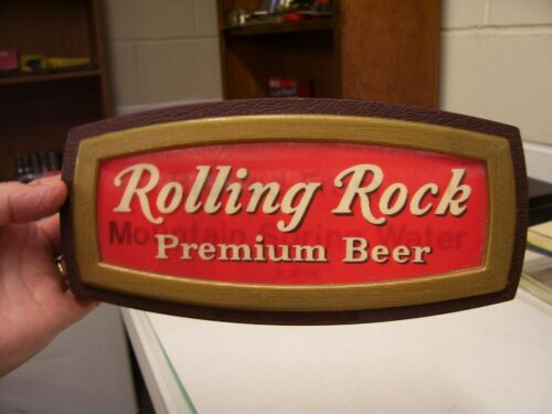 VINTAGE ROLLING ROCK PREMIUM BEER MOTION ADVERTISING SIGN LABROBE PA , NOS