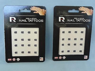 NORTH CAROLINA TAR HEELS  Peel and Stick NAIL TATTOOS Set of 4 Packages  by RICO - North Carolina Tattoos
