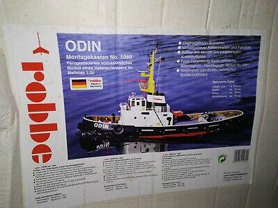 Robbe ODIN 1080, Hafenschlepper Schiffsmodell Montagekasten M 1:25