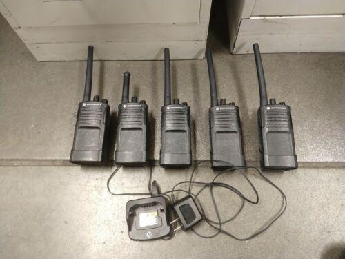 5 Motorola RMV2080 On-Site 8 Channel VHF Rugged Two-Way Business Radio - Black - $150.00