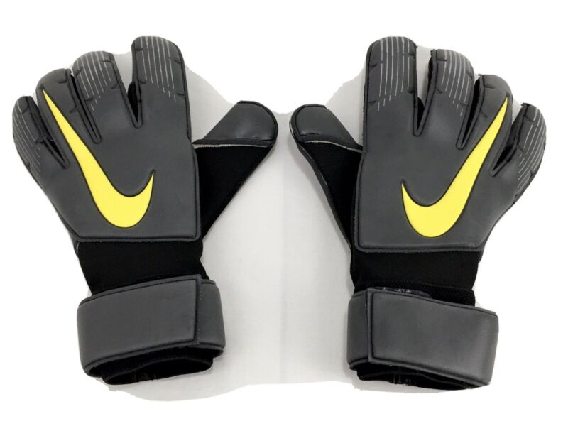 NIKE VAPOR GRIP 3 PROMO SOCCER GK GLOVES PGS261-060  Size 10.5 Grey Yellow