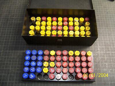 Delavan Oil Burner Nozzles Lot Of 103 Assorted With Metal Organizer Box N.o.s.