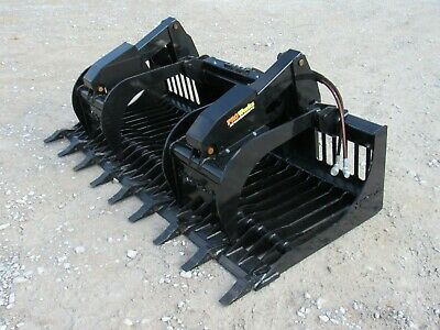 84 Severe Duty Rock Grapple Bucket With Teeth Skid Steer Loader Attachment